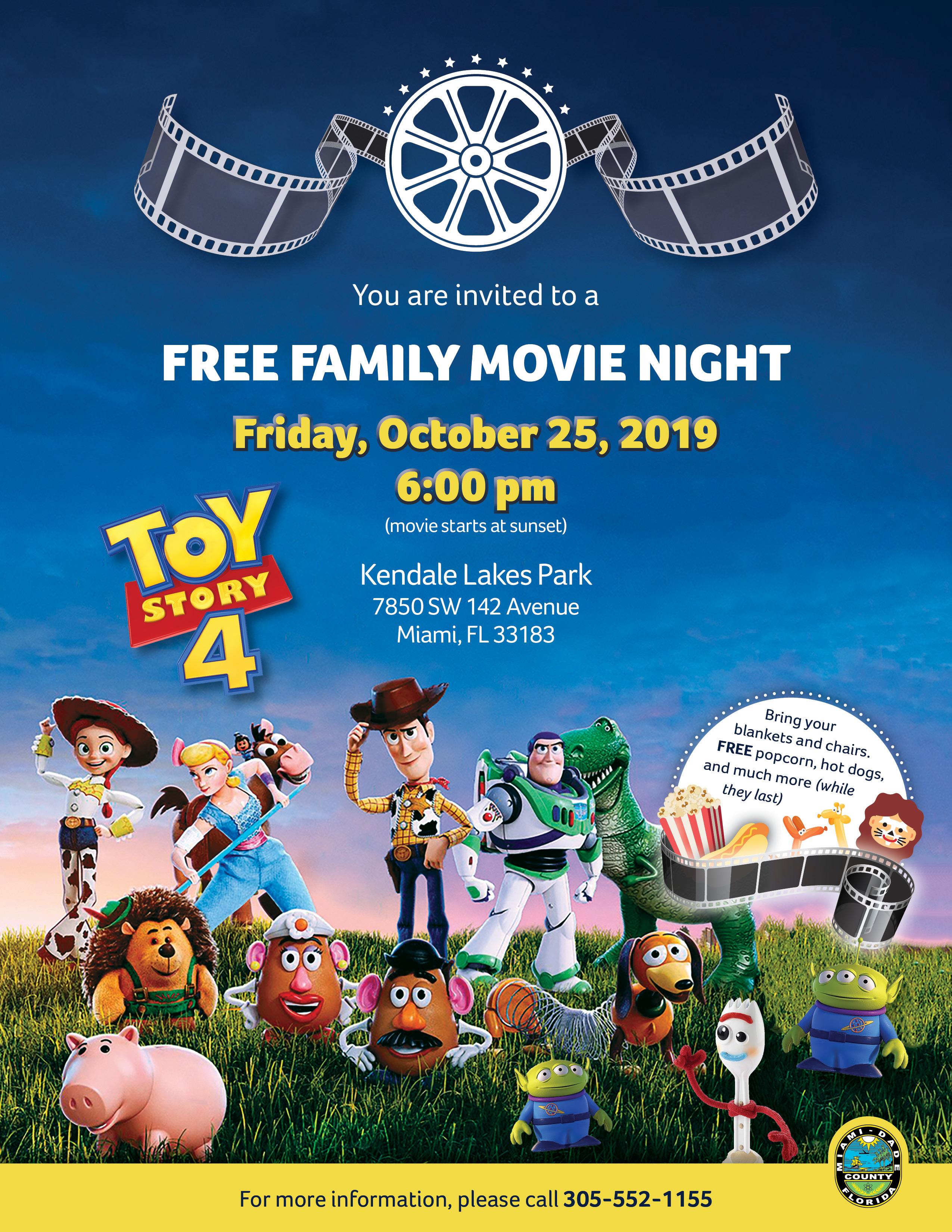 Free Family Movie Night @ Kendale Lakes Park   Miami   Florida   United States