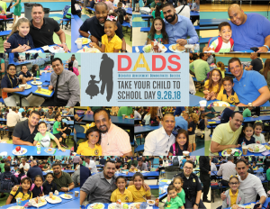 Dads take your child to school day 2018